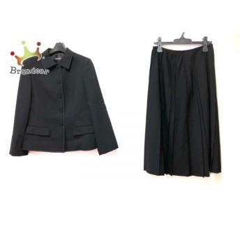ランバンコレクション LANVIN COLLECTION スカートスーツ サイズ40 M レディース 美品 黒 値下げ 20190818