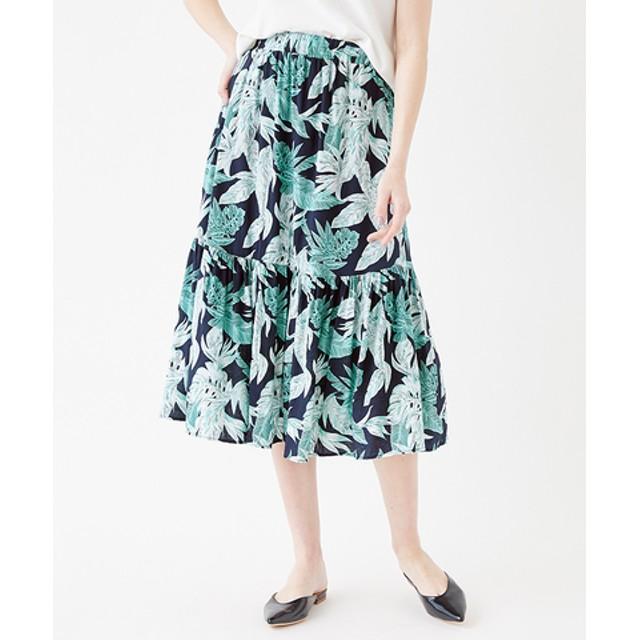 フラワープリントティアードスカート