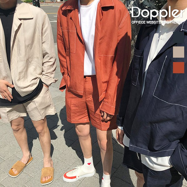 襯衫套裝 韓版男士休閒防曬襯衫【TJW8009】現貨+預購