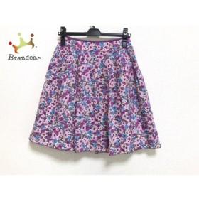 マッキントッシュフィロソフィー スカート サイズ36 M レディース 美品 花柄 新着 20190710