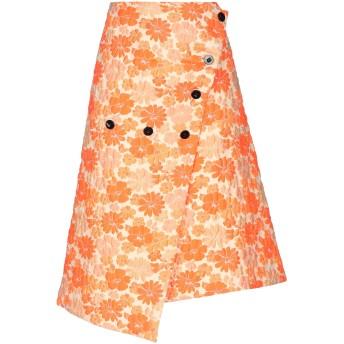 《期間限定セール開催中!》JIL SANDER レディース 7分丈スカート オレンジ 36 ポリエステル 76% / ナイロン 24%