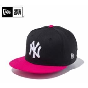 【メーカー取次】NEW ERA ニューエラ Youth キッズ用 9FIFTY MLB ニューヨーク ヤンキース ブラックXピンク 11433966 キャップ