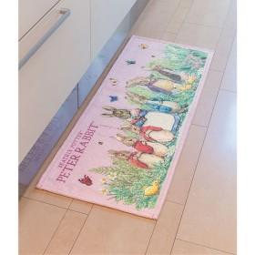 ピーターラビット シェニールキッチンマット - セシール ■カラー:ピンク ■サイズ:C(45×240)