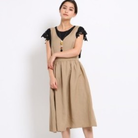 エージー バイ アクアガール(AG by aquagirl)/【洗える】麻レーヨンフレアジャンパースカート