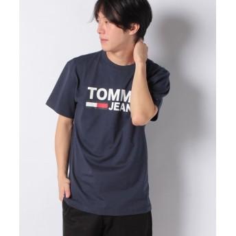 トミーヒルフィガー クラシックロゴTシャツ メンズ ネイビー L 【TOMMY HILFIGER】