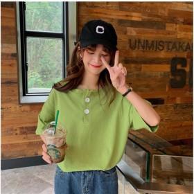 【送料無料】 新作韓国ファッション 半袖ラウンドネックゆったりシャツシャツ 超高品質 可愛大人気の Tシャツ