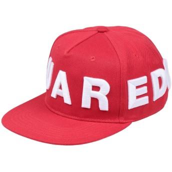《セール開催中》DSQUARED2 メンズ 帽子 レッド one size ポリエステル 100%