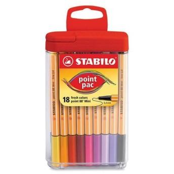 【SALE】スタビロ 水性ペン ポイント88ミニ 18色セット