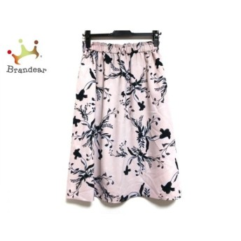ニジュウサンク 23区 スカート サイズ38 M レディース 美品 ピンク×黒×白 新着 20190710