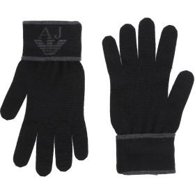 《送料無料》ARMANI JEANS メンズ 手袋 ブラック S ウール 50% / アクリル 50%