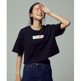 Levi's ボックスロゴオーバーシルエットTシャツ レディース ブラック