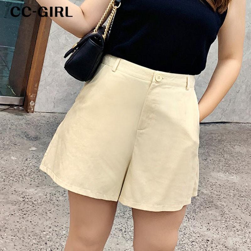 CCGIRL 中大尺碼 西裝口袋短褲~共兩色 - 適XL~4L《 68248SH 》