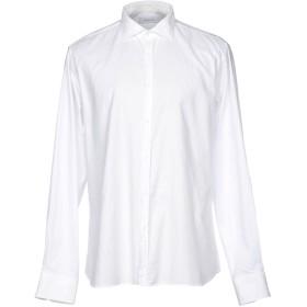 《期間限定 セール開催中》AGLINI メンズ シャツ ホワイト 45 コットン 97% / ポリウレタン 3%