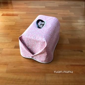 キャリーカバー(リッチェルS用) ピンクのナチュラル小花