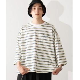 [マルイ]【セール】マルチボーダー5分袖Tシャツ/ウィゴー(メンズ)(WEGO)