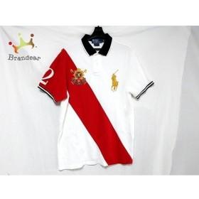 ポロラルフローレン 半袖ポロシャツ サイズL メンズ ビッグポニー 白×レッド×黒 新着 20190710
