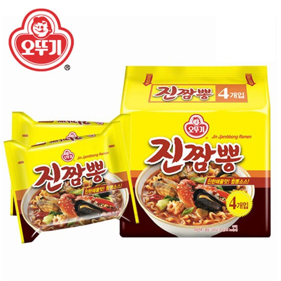 韓國 不倒翁 螃蟹炒碼麵 (四包入) 螃蟹海鮮麵 炒碼麵 泡麵 韓國泡麵