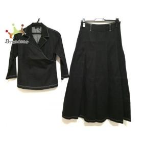 レキップ ヨシエイナバ L'EQUIPE YOSHIE INABA スカートスーツ サイズ9 M レディース 黒 デニム  値下げ 20190902