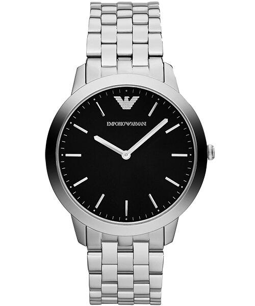 EMPORIO ARMANI 亞曼尼 AR1744極限纖薄典雅時尚腕錶/白面41.5mm