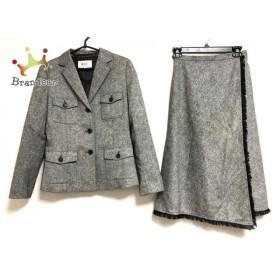 ジユウク 自由区/jiyuku スカートスーツ サイズ38 M レディース 黒×白  値下げ 20190910