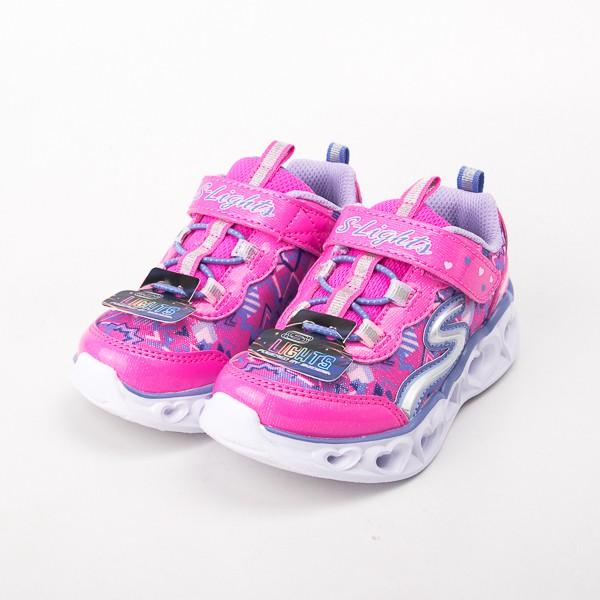 Skechers 女嬰童系列 HEART LIGHTS 電燈鞋-桃 20180NNPMT 現貨 零碼出清