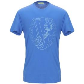 《期間限定セール開催中!》VERSACE JEANS メンズ T シャツ ブルー L コットン 100%
