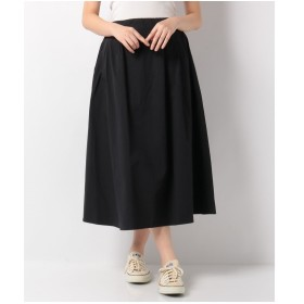 koe ミディ丈タックギャザースカート(ブラック)【返品不可商品】