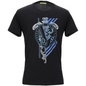 《期間限定 セール開催中》VERSACE JEANS メンズ T シャツ ブラック XS コットン 100%