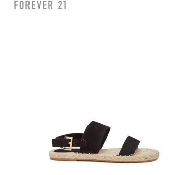 FOREVER21 フォーエバー21 【フェイクスエードストラップサンダル】(5,000円以上購入で送料無料)