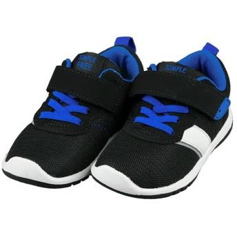 [15.0~18.0cm]シンプルフリー 履きやすいシューズ ブラック シューズ・ファッション小物 キッズシューズ(15cm~) (30)