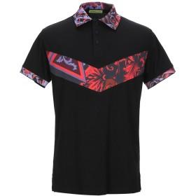 《期間限定 セール開催中》VERSACE JEANS メンズ ポロシャツ ブラック 44 コットン 100%