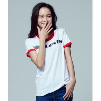 Levi's リンガープリントTシャツ レディース ホワイト