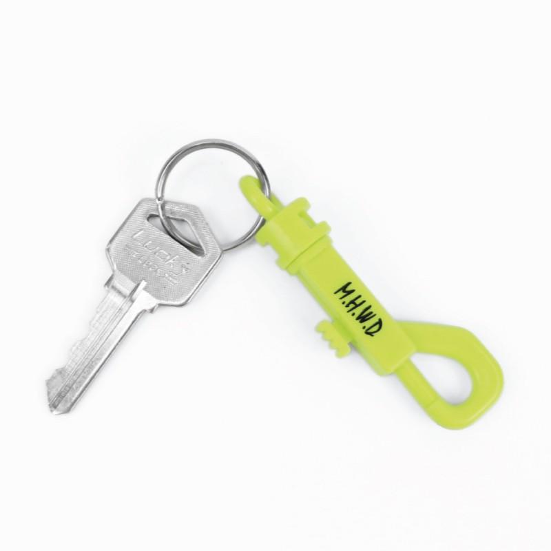 Matchwood P-Hook 勾扣鑰匙圈 螢光黃底黑字款 官方賣場