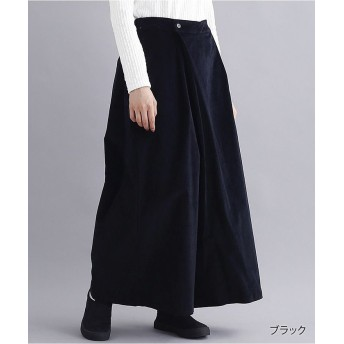 メルロー コーデュロイラップパンツ1951 レディース ブラック FREE 【merlot】