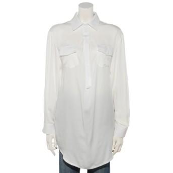 60%OFF odds on complex (オッズオンコンプレックス) Uネックロールアッププルオーバーシャツ オフホワイト