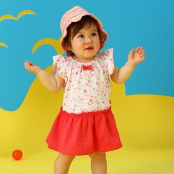 ミキハウス 【アウトレット】小花柄ワンピース ピンク