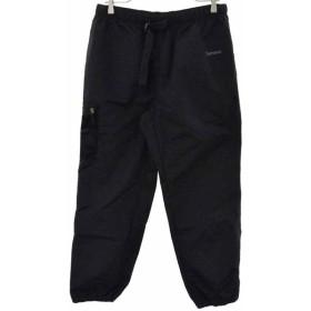 SUPREME(シュプリーム)×NIKE ×ナイキ 17AW Nike Trail Running Pant ナイロントラックウォームアップパンツ ブラック