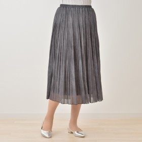 CLEO SUN デニム調プリントプリーツスカート