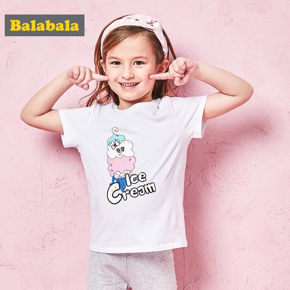 Balabala巴拉巴拉-冰淇淋女孩短袖T恤-女
