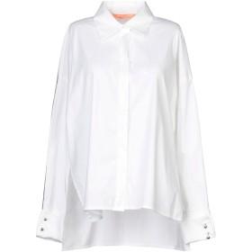 《9/20まで! 限定セール開催中》SMARTEEZ レディース シャツ ホワイト 44 コットン 70% / ナイロン 27% / ポリウレタン 3%