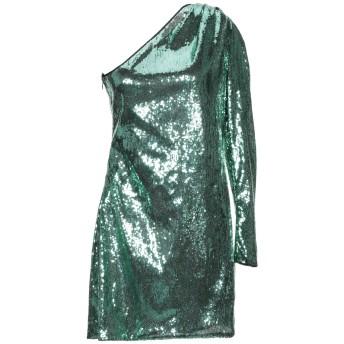 《セール開催中》SIMONA CORSELLINI レディース ミニワンピース&ドレス グリーン 44 ポリエステル 100%