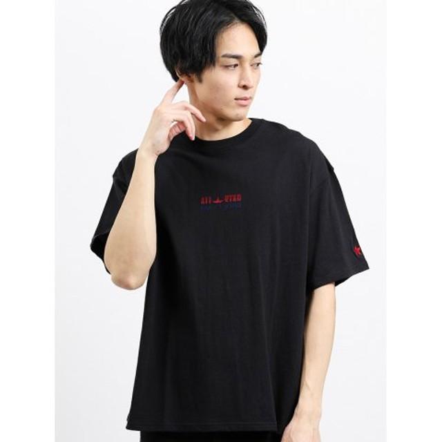 (TAKA-Q/タカキュー)【WEB限定販売】コンバース/CONVERSE グラデーションブラシ刺繍半袖Tシャツ/メンズ ブラック