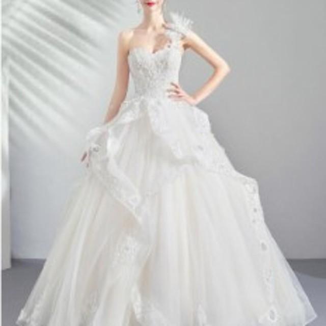 ウエディングドレス/プリンセスラインドレス/パーティードレス/披露宴ドレス/結婚式/二次会/花嫁/超可愛い/WS-587