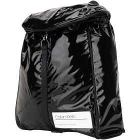 《期間限定セール開催中!》CALVIN KLEIN レディース バックパック&ヒップバッグ ブラック ポリエステル 75% / ポリウレタン 25% BIND BACKPACK
