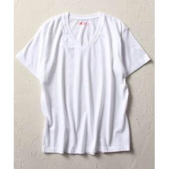 HANES 「Japan Fit」 2パックVネックTシャツ メンズ ホワイト
