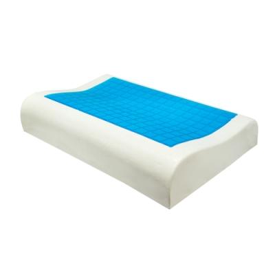 亞曼達Amanda 沁涼凝膠釋壓記憶枕 枕頭 -人體工學型(2入)