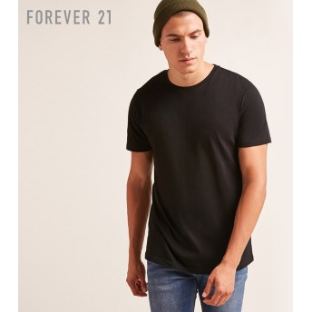FOREVER21 フォーエバー21 【[MEN]コットンクルーネックTシャツ】(5,000円以上購入で送料無料)
