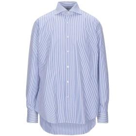 《期間限定 セール開催中》TRUZZI メンズ シャツ ブルー 42 コットン 100%