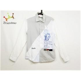 デシグアル Desigual 長袖シャツ サイズS メンズ アイボリー×グレー×マルチ 刺繍   スペシャル特価 20190928