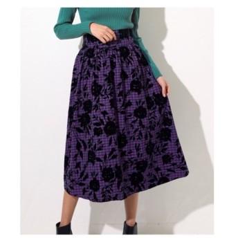 ANAP(アナップ)【Alluge】 チェック×フロッキーフラワースカート